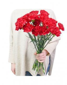 Bouquet of 25 red dianthus | Red flowers to colleague flowers