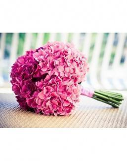 Bouquet of 15 pink hydrangeas | Delivery and order flowers in Karaganda