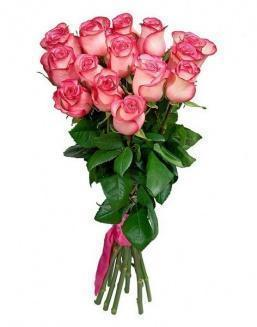 Bouquet of 15 pink roses | Delivery and order flowers in Karaganda