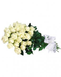 Bouquet of 15 white roses | Delivery and order flowers in Karaganda