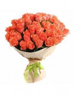 Bouquet of 51 carrot roses | Delivery and order flowers in Karaganda