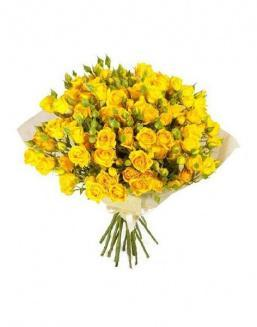 Bouquet of 51 yellow rose bushes | Delivery and order flowers in Karaganda