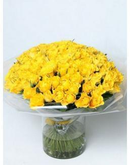 Bouquet of 101 yellow rose bushes | 101 roses,lilies expensive