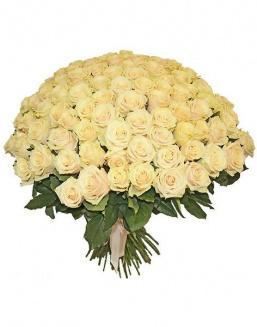 Bouquet 101 cream roses | 101 roses,lilies expensive