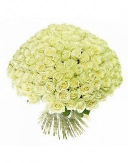 Bouquet of 51 white holland roses | Delivery and order flowers in Karaganda