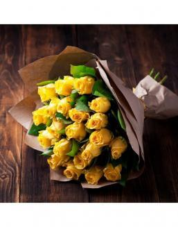 Bouquet of 21 yellow roses | Delivery and order flowers in Karaganda