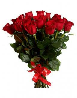 21 long red roses deluxe | Red flowers to colleague flowers