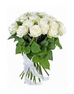 21 high elite white roses | Delivery and order flowers in Karaganda