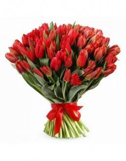 Bouquet 201 red tulips | Delivery and order flowers in Karaganda