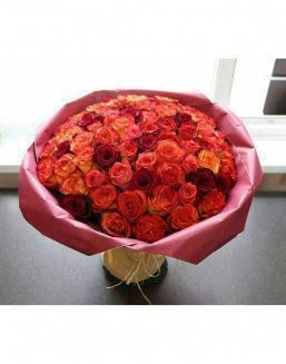 Love flame | 101 roses,lilies expensive